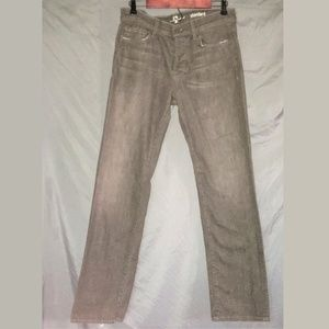 7 FOR ALL MANKIND 33x33 Button-Fly Brown Jeans